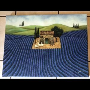 Lavender Field Lowell Herrero Art Print